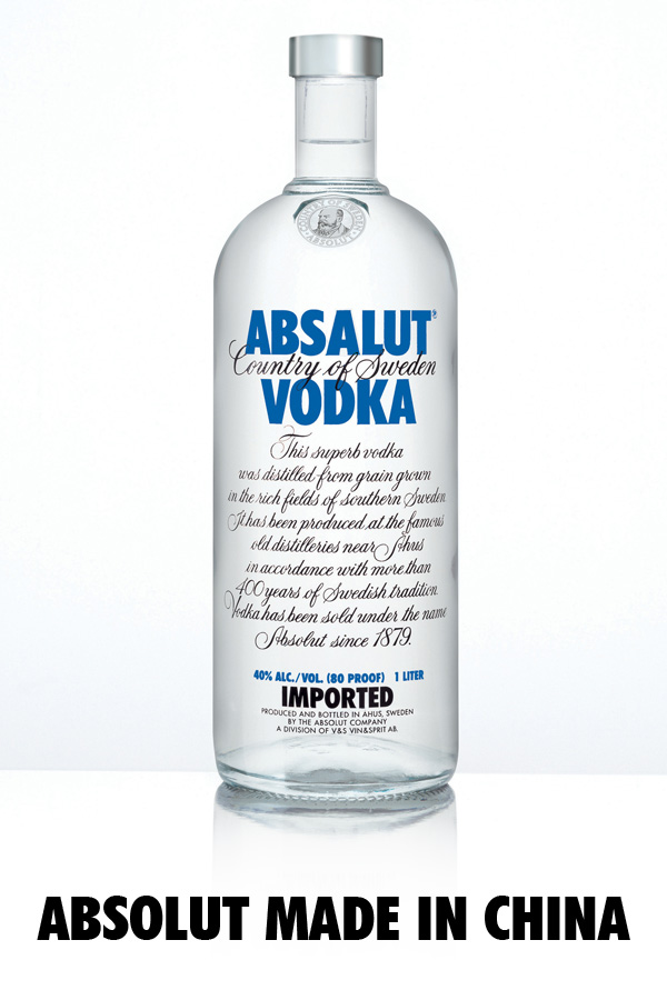 ABSOLUT MADE IN CHINA