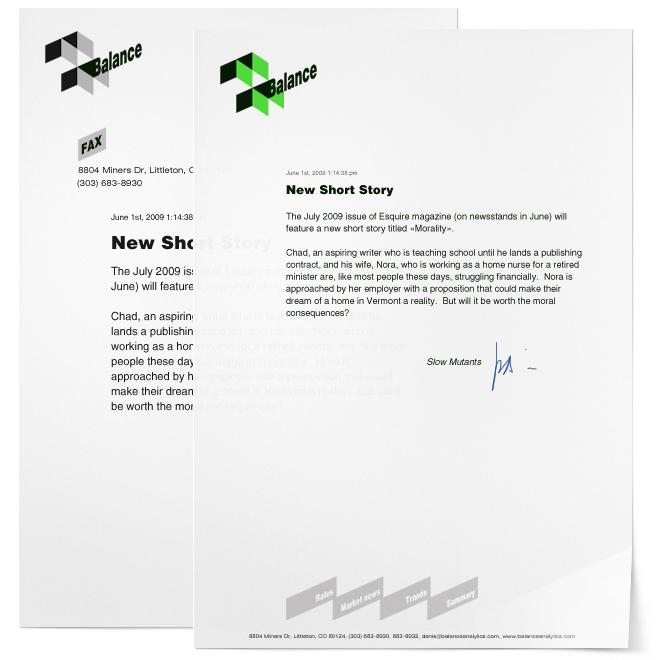 Образцы бланков, образцы фирменных бланков: Логотип фирмы